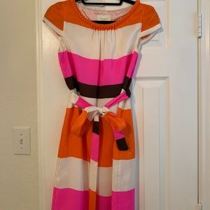 Kate Spade Silk Striped Dress